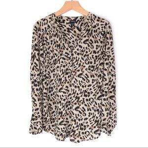 Torrid Leopard Print Blouse Size 2